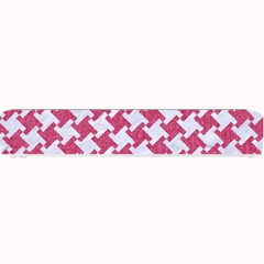 HOUNDSTOOTH2 WHITE MARBLE & PINK DENIM Small Bar Mats