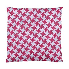 Houndstooth2 White Marble & Pink Denim Standard Cushion Case (one Side)