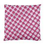 HOUNDSTOOTH2 WHITE MARBLE & PINK DENIM Standard Cushion Case (Two Sides) Back