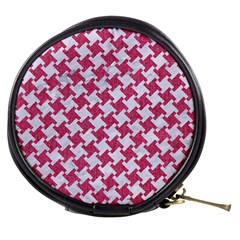 HOUNDSTOOTH2 WHITE MARBLE & PINK DENIM Mini Makeup Bags