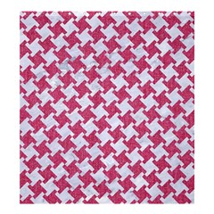 Houndstooth2 White Marble & Pink Denim Shower Curtain 66  X 72  (large)