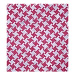 HOUNDSTOOTH2 WHITE MARBLE & PINK DENIM Shower Curtain 66  x 72  (Large)  58.75 x64.8  Curtain