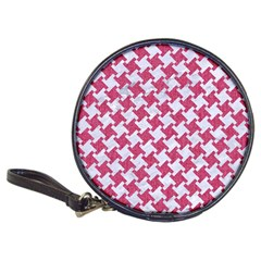 HOUNDSTOOTH2 WHITE MARBLE & PINK DENIM Classic 20-CD Wallets