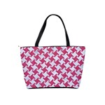 HOUNDSTOOTH2 WHITE MARBLE & PINK DENIM Shoulder Handbags Back