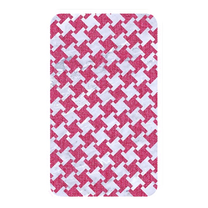 HOUNDSTOOTH2 WHITE MARBLE & PINK DENIM Memory Card Reader