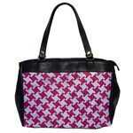 HOUNDSTOOTH2 WHITE MARBLE & PINK DENIM Office Handbags Front