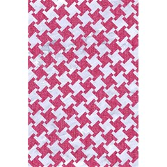 HOUNDSTOOTH2 WHITE MARBLE & PINK DENIM 5.5  x 8.5  Notebooks