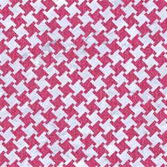 HOUNDSTOOTH2 WHITE MARBLE & PINK DENIM Magic Photo Cubes