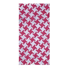 HOUNDSTOOTH2 WHITE MARBLE & PINK DENIM Shower Curtain 36  x 72  (Stall)
