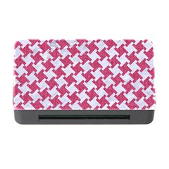 Houndstooth2 White Marble & Pink Denim Memory Card Reader With Cf by trendistuff