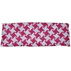 HOUNDSTOOTH2 WHITE MARBLE & PINK DENIM Body Pillow Case Dakimakura (Two Sides)