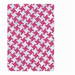 HOUNDSTOOTH2 WHITE MARBLE & PINK DENIM Small Garden Flag (Two Sides)