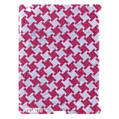Houndstooth2 White Marble & Pink Denim Apple Ipad 3/4 Hardshell Case (compatible With Smart Cover)