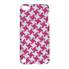 HOUNDSTOOTH2 WHITE MARBLE & PINK DENIM Apple iPod Touch 5 Hardshell Case