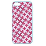 HOUNDSTOOTH2 WHITE MARBLE & PINK DENIM Apple Seamless iPhone 5 Case (Color) Front