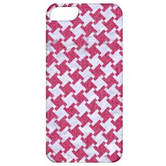 Houndstooth2 White Marble & Pink Denim Apple Iphone 5 Classic Hardshell Case