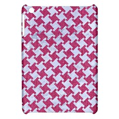 Houndstooth2 White Marble & Pink Denim Apple Ipad Mini Hardshell Case by trendistuff