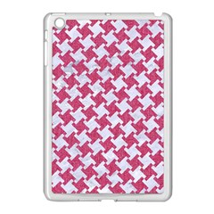 Houndstooth2 White Marble & Pink Denim Apple Ipad Mini Case (white) by trendistuff