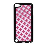 HOUNDSTOOTH2 WHITE MARBLE & PINK DENIM Apple iPod Touch 5 Case (Black) Front