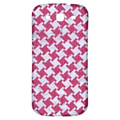 Houndstooth2 White Marble & Pink Denim Samsung Galaxy S3 S Iii Classic Hardshell Back Case by trendistuff