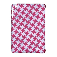HOUNDSTOOTH2 WHITE MARBLE & PINK DENIM Apple iPad Mini Hardshell Case (Compatible with Smart Cover)