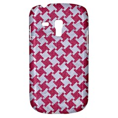 Houndstooth2 White Marble & Pink Denim Galaxy S3 Mini