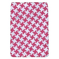Houndstooth2 White Marble & Pink Denim Flap Covers (l)  by trendistuff