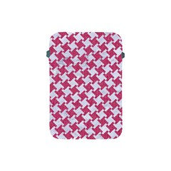 HOUNDSTOOTH2 WHITE MARBLE & PINK DENIM Apple iPad Mini Protective Soft Cases