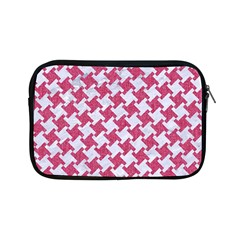 HOUNDSTOOTH2 WHITE MARBLE & PINK DENIM Apple iPad Mini Zipper Cases