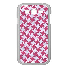HOUNDSTOOTH2 WHITE MARBLE & PINK DENIM Samsung Galaxy Grand DUOS I9082 Case (White)