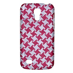 HOUNDSTOOTH2 WHITE MARBLE & PINK DENIM Galaxy S4 Mini