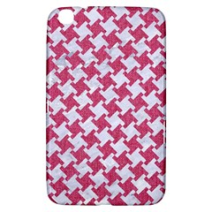 HOUNDSTOOTH2 WHITE MARBLE & PINK DENIM Samsung Galaxy Tab 3 (8 ) T3100 Hardshell Case
