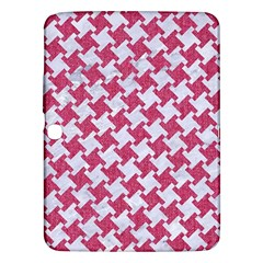 HOUNDSTOOTH2 WHITE MARBLE & PINK DENIM Samsung Galaxy Tab 3 (10.1 ) P5200 Hardshell Case