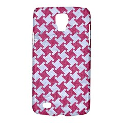 HOUNDSTOOTH2 WHITE MARBLE & PINK DENIM Galaxy S4 Active