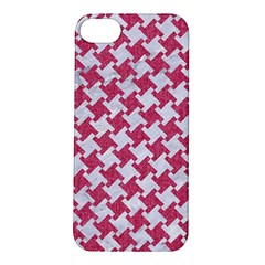 Houndstooth2 White Marble & Pink Denim Apple Iphone 5s/ Se Hardshell Case by trendistuff