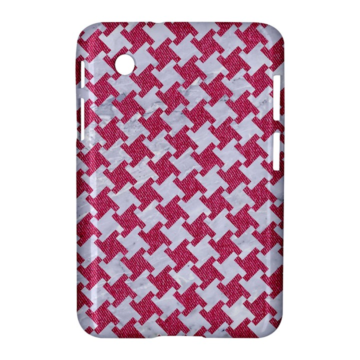 HOUNDSTOOTH2 WHITE MARBLE & PINK DENIM Samsung Galaxy Tab 2 (7 ) P3100 Hardshell Case