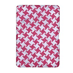 HOUNDSTOOTH2 WHITE MARBLE & PINK DENIM Samsung Galaxy Tab 2 (10.1 ) P5100 Hardshell Case