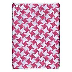 HOUNDSTOOTH2 WHITE MARBLE & PINK DENIM iPad Air Hardshell Cases