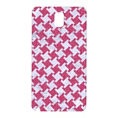 Houndstooth2 White Marble & Pink Denim Samsung Galaxy Note 3 N9005 Hardshell Back Case