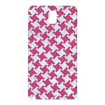 HOUNDSTOOTH2 WHITE MARBLE & PINK DENIM Samsung Galaxy Note 3 N9005 Hardshell Back Case Front