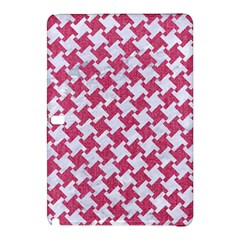 Houndstooth2 White Marble & Pink Denim Samsung Galaxy Tab Pro 10 1 Hardshell Case