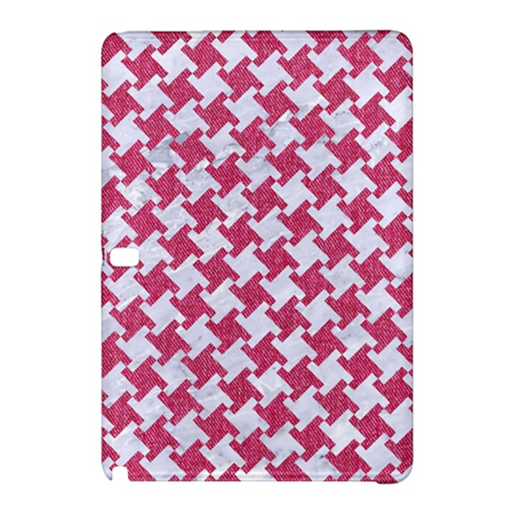 HOUNDSTOOTH2 WHITE MARBLE & PINK DENIM Samsung Galaxy Tab Pro 10.1 Hardshell Case