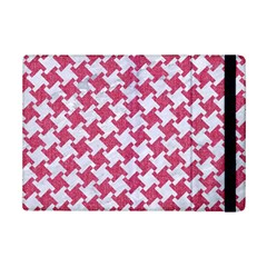 HOUNDSTOOTH2 WHITE MARBLE & PINK DENIM iPad Mini 2 Flip Cases