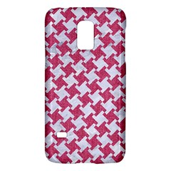 HOUNDSTOOTH2 WHITE MARBLE & PINK DENIM Galaxy S5 Mini