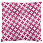 HOUNDSTOOTH2 WHITE MARBLE & PINK DENIM Standard Flano Cushion Case (One Side) Front