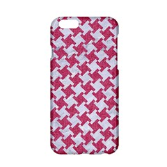 Houndstooth2 White Marble & Pink Denim Apple Iphone 6/6s Hardshell Case by trendistuff