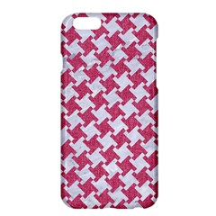 Houndstooth2 White Marble & Pink Denim Apple Iphone 6 Plus/6s Plus Hardshell Case by trendistuff