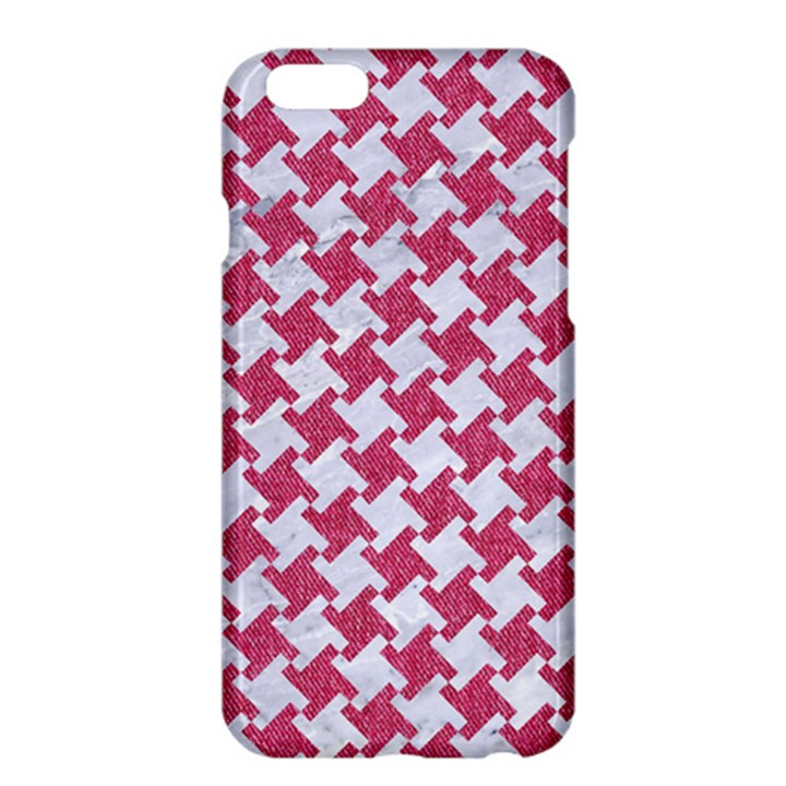 HOUNDSTOOTH2 WHITE MARBLE & PINK DENIM Apple iPhone 6 Plus/6S Plus Hardshell Case