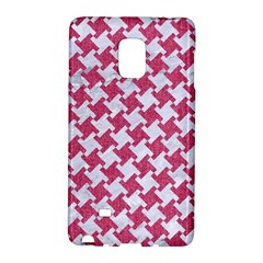 HOUNDSTOOTH2 WHITE MARBLE & PINK DENIM Galaxy Note Edge