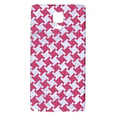 HOUNDSTOOTH2 WHITE MARBLE & PINK DENIM Galaxy Note 4 Back Case